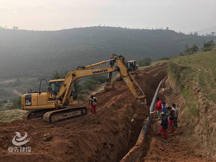 山西段纯-温泉乡天然气输气管道过程